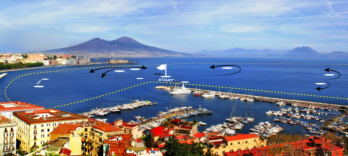 America's Cup World Series Napoli 2013: official race course